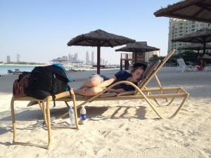 Trött på stranden